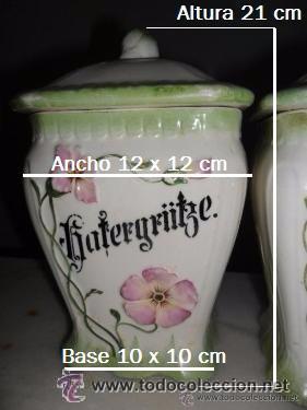 Antigüedades: Porcelana alemana - tarros de cocina, estilo modernista - Foto 15 - 48734952