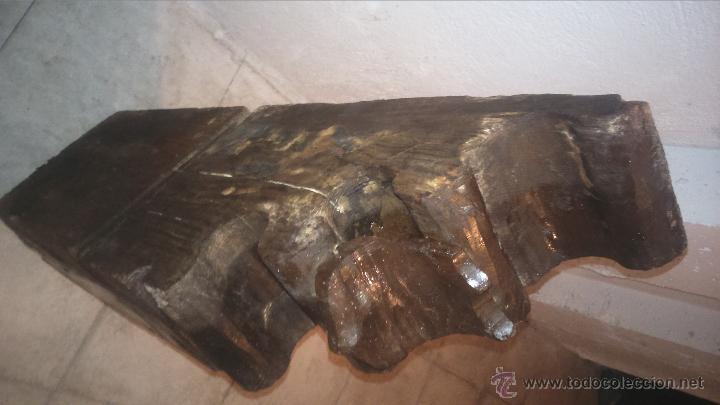 Antigüedades: MÉNSULA ZAPATA DE MADERA - Foto 4 - 80902718