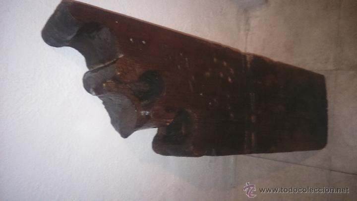 Antigüedades: MÉNSULA ZAPATA DE MADERA - Foto 5 - 80902718