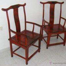 Antigüedades: PAREJA SILLONES CHINOS. Lote 48937644