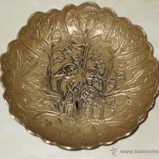 Antigüedades: DEJALLAVES DE BRONCE IMAGEN PAJAROS.EPOCA MODERNISTA.. Lote 48940048