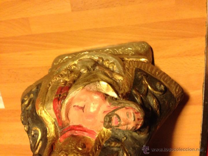 Antigüedades: Imagen de la virgen de las angustias.mide 31 cm - Foto 6 - 48949756