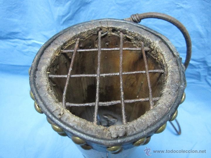 Antigüedades: ANTIGUA HURONERA AÑOS 40-50 CREO DE BAMBU DECORADA Y COMPLETA - Foto 3 - 48950065
