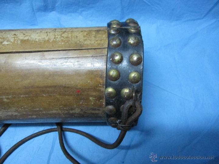 Antigüedades: ANTIGUA HURONERA AÑOS 40-50 CREO DE BAMBU DECORADA Y COMPLETA - Foto 6 - 48950065