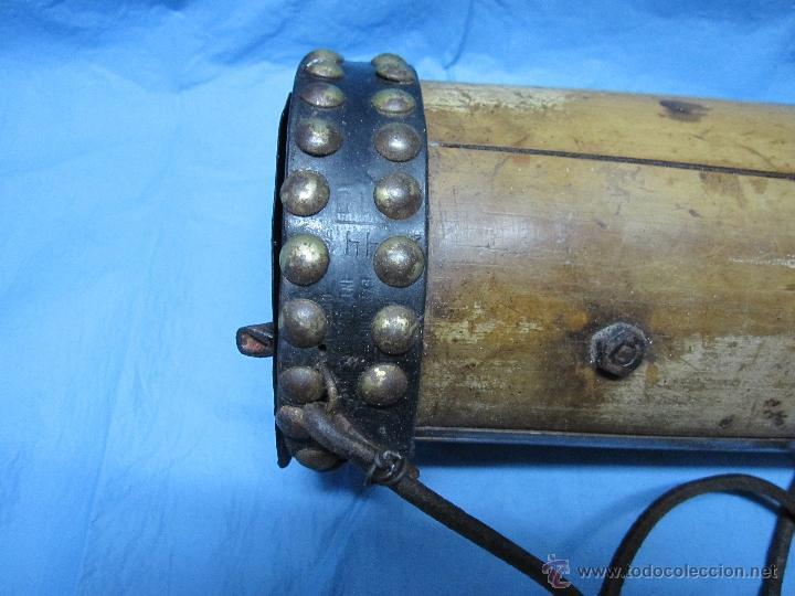 Antigüedades: ANTIGUA HURONERA AÑOS 40-50 CREO DE BAMBU DECORADA Y COMPLETA - Foto 7 - 48950065