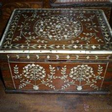 Antigüedades: MARAVILLOSA CAJA ANGLO- INDÚ S- XVIII. Lote 48954965