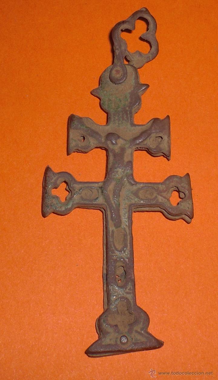 Antigüedades: Cruz de caravaca siglo XIX - Foto 2 - 48963637