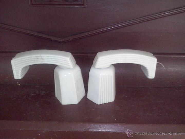 pareja de apliques cuarto de baño de porcelana - Kaufen Antike ...