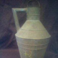 Antigüedades: ACEITERA CANTARA DE ACEITE ANTIGUA DE CHAPA.. Lote 48969641