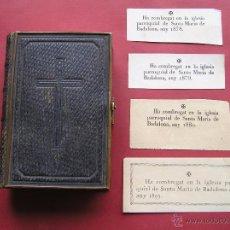 Antigüedades: DIAMANTE DIVINO Y SEMANA SANTA.1875.+ 4 COMPROBANTES STA. MARIA BADALONA 1878, 1879 ,1880 Y 1893.. Lote 48972300