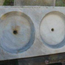 Antigüedades: FREGADERO DE MARMOL. Lote 48972308