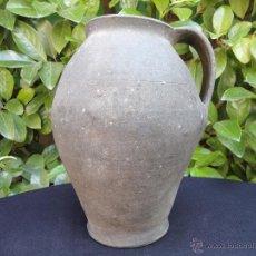 Antigüedades: ALFARERÍA NEGRA ASTURIANA: PUCHERO DE FARO. Lote 48976750