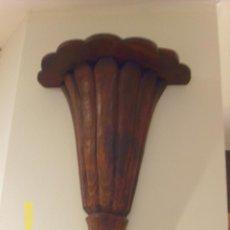 Antigüedades: MENSULA O SOPORTE EN MADERA DE TEKA. Lote 48978123