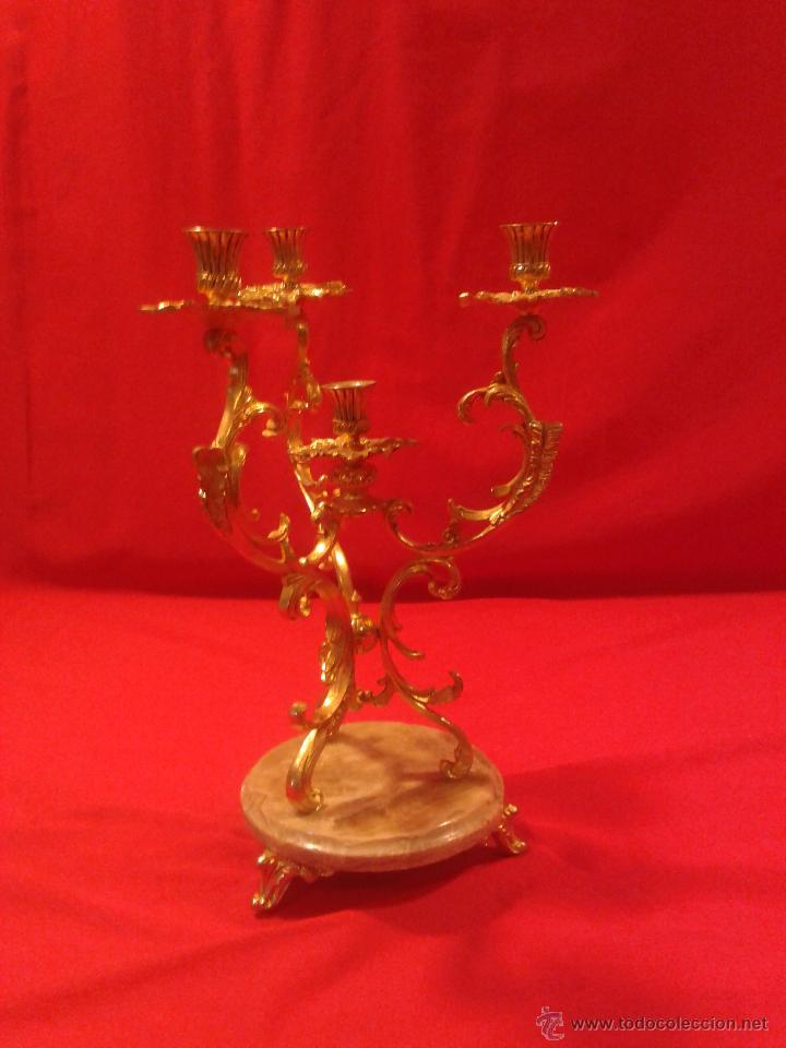 CANDELABRO DE 4 BRAZOS (Antigüedades - Hogar y Decoración - Portavelas Antiguas)