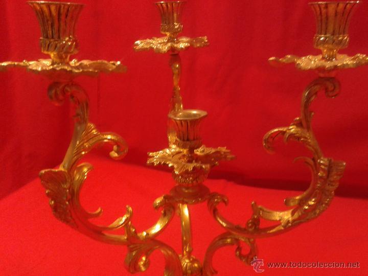 Antigüedades: Candelabro de 4 brazos - Foto 2 - 48981670