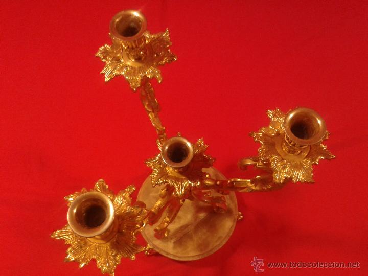 Antigüedades: Candelabro de 4 brazos - Foto 6 - 48981670