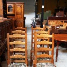 Antigüedades: 6 SILLAS EN ROBLE MACIZO. REF. 5855. Lote 49000246