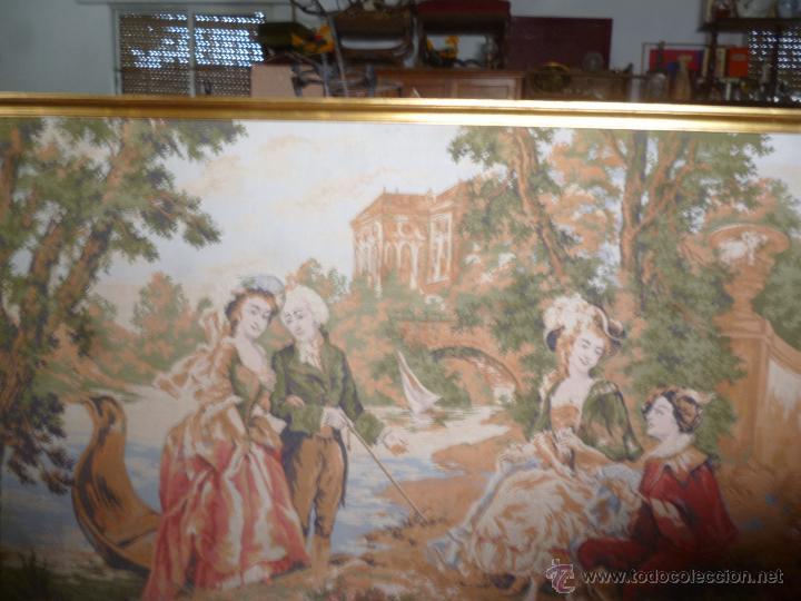 Antigüedades: TAPIZ ENMARCADO - Foto 4 - 49008431