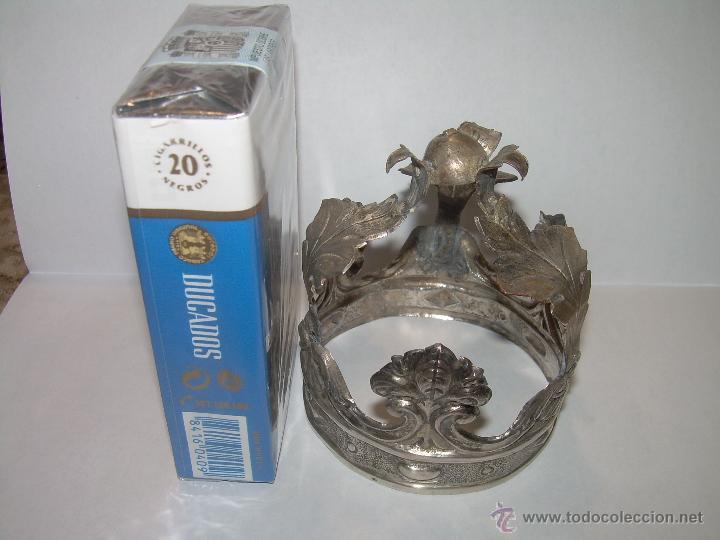 Antigüedades: ANTIGUA CORONA DE PLATA...PARA IMAGEN DE SANTO.....SIGLO..XVIII. - Foto 7 - 49008475