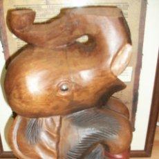 Antigüedades: ELEFANTE DE MADERA AGRICANA. Lote 49018048