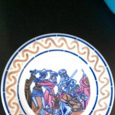 Antigüedades: PLATO SARGADELOS NUMERADO 272/500 PINTURAS MURAIS MONDOÑEDO DEGOLLACION INOCENTES DESCATALOGADO LUGO. Lote 49026644