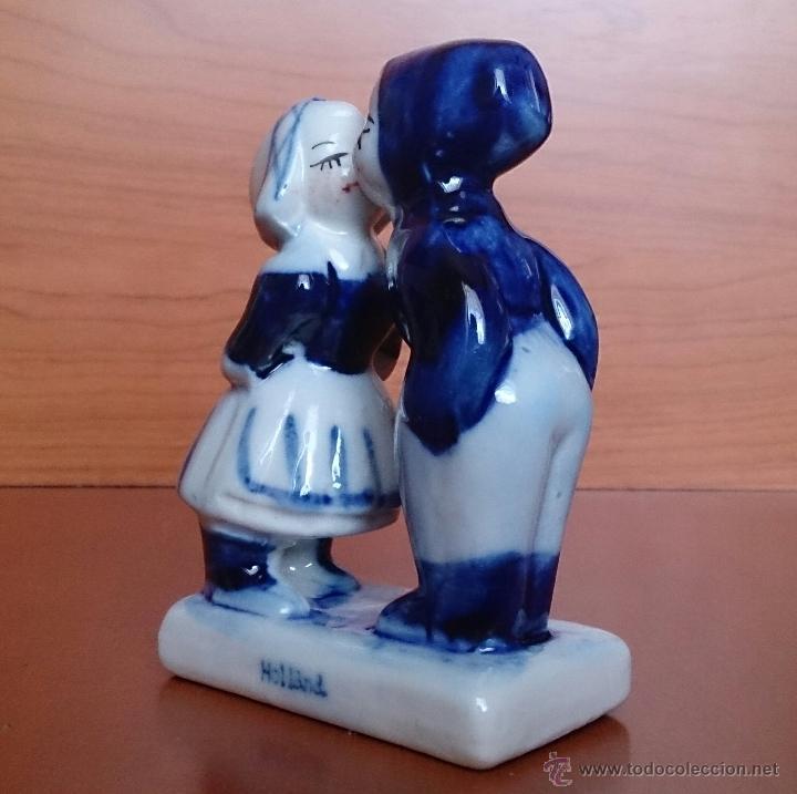 Antigüedades: Antigua figura de pareja de Holandeses en porcelana . - Foto 2 - 49033703
