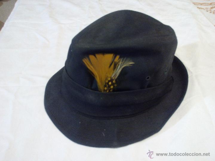 Antigüedades: sombrero de caza united hatters cap millinery w x rs int union.tejido y plumas - Foto 2 - 55320956