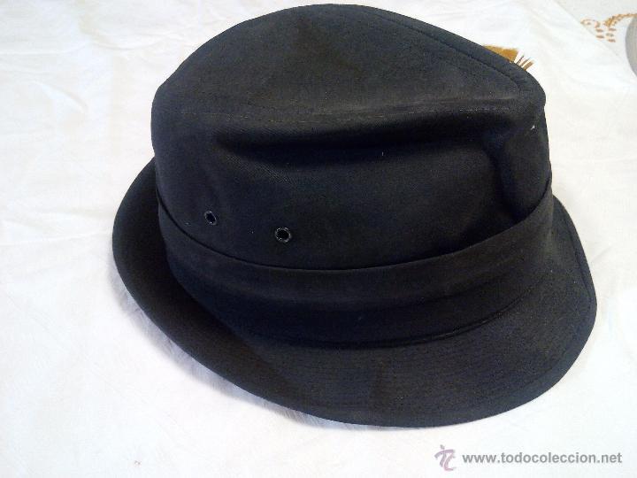 Antigüedades: sombrero de caza united hatters cap millinery w x rs int union.tejido y plumas - Foto 3 - 55320956