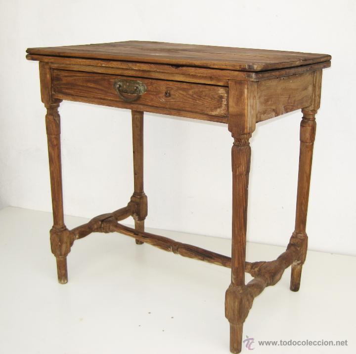 Preciosa mesa antigua xviii xix en madera idea comprar - Mesas antiguas de cocina ...