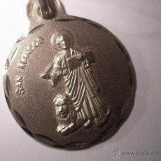 Antigüedades: MEDALLA SAN MARCOS EN PLATA DE LEY - 21MM. Lote 101124547