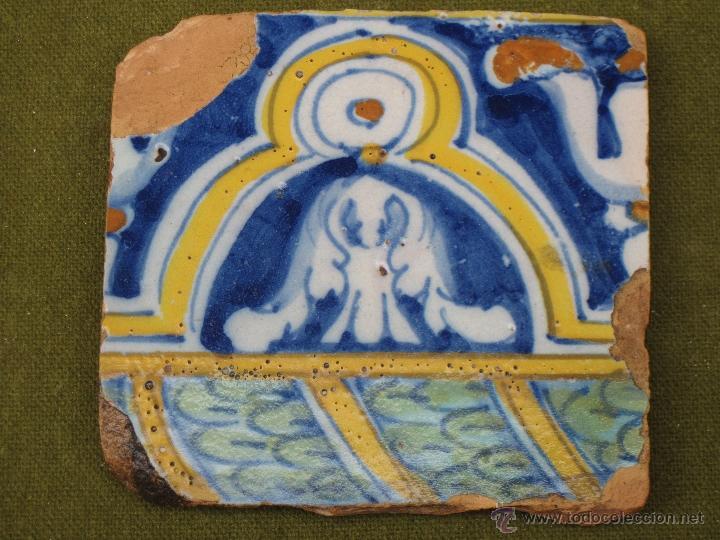 Antigüedades: AZULEJO ANTIGUO DE TALAVERA DE LA REINA O TOLEDO. SIGLO XVII. - Foto 2 - 49044425