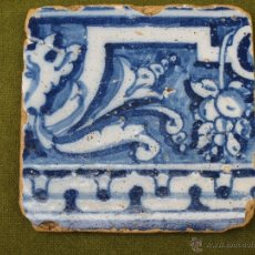 Antigüedades: AZULEJO ANTIGUO DE TALAVERA DE LA REINA - SIGLO XVI.. Lote 49047868