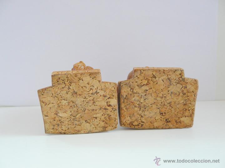 Antigüedades: BUSTOS PEQUEÑOS DONQUIJOTE Y SANCHO PANZA - RESINA COLOR MADERA - Foto 6 - 49057751