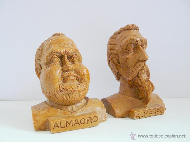 Antigüedades: BUSTOS PEQUEÑOS DONQUIJOTE Y SANCHO PANZA - RESINA COLOR MADERA - Foto 7 - 49057751