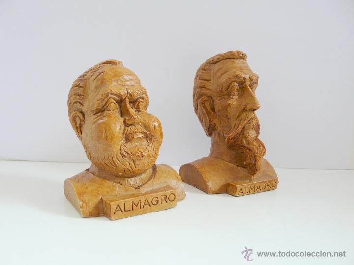 Antigüedades: BUSTOS PEQUEÑOS DONQUIJOTE Y SANCHO PANZA - RESINA COLOR MADERA - Foto 9 - 49057751