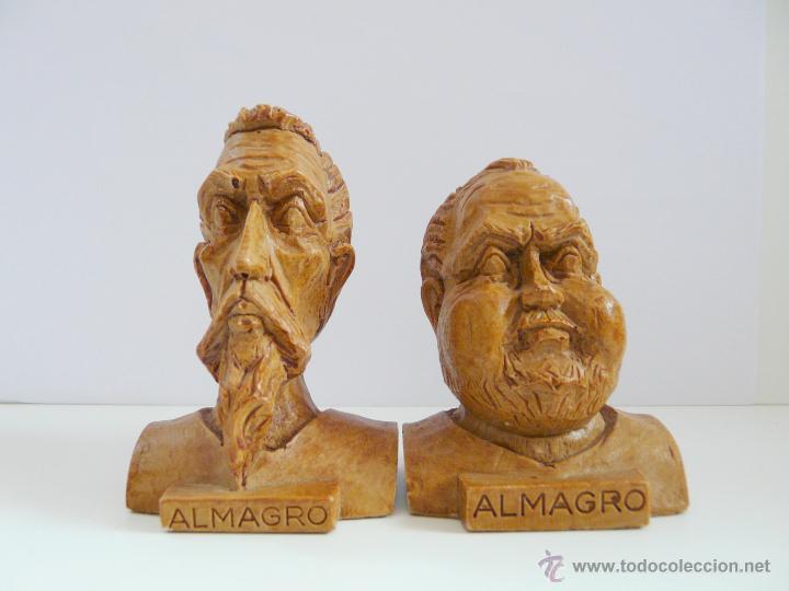 Antigüedades: BUSTOS PEQUEÑOS DONQUIJOTE Y SANCHO PANZA - RESINA COLOR MADERA - Foto 10 - 49057751