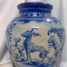 Antigüedades: SIGLO XIX-XX. TIBOR EN CERÁMICA DE TALAVERA DE LA REINA.. Lote 49061473