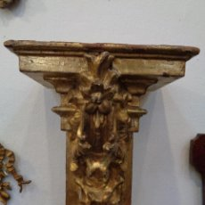 Antigüedades: MENSULA-PEANA DORADA S.XVI. Lote 49064345