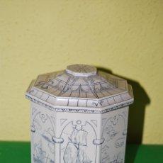 Antigüedades: SCRIMSHAW REPRODUCCIÓN - SÍMIL MARFIL - BOTE MARINERO - MEDIADOS S.XX - INGLATERRA- TABAQUERA. Lote 49068798