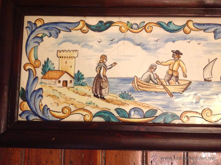 Antigüedades: gran azulejo de manises - Foto 2 - 49070415