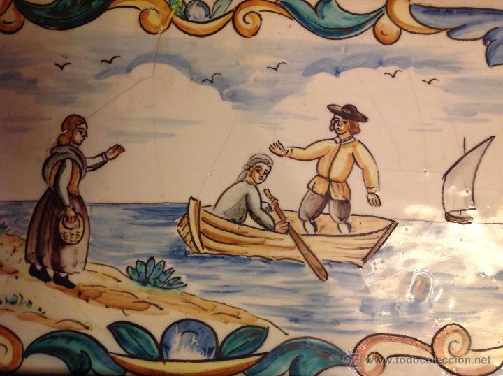 Antigüedades: gran azulejo de manises - Foto 3 - 49070415