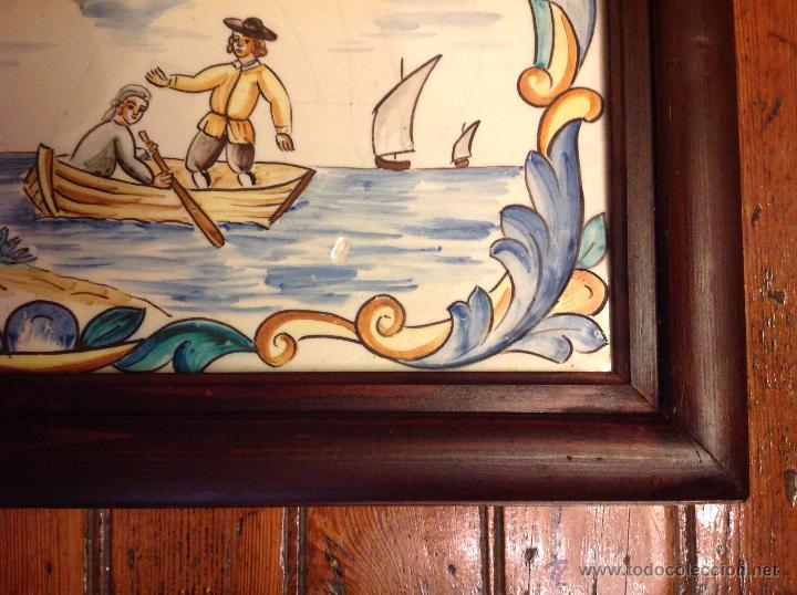 Antigüedades: gran azulejo de manises - Foto 4 - 49070415
