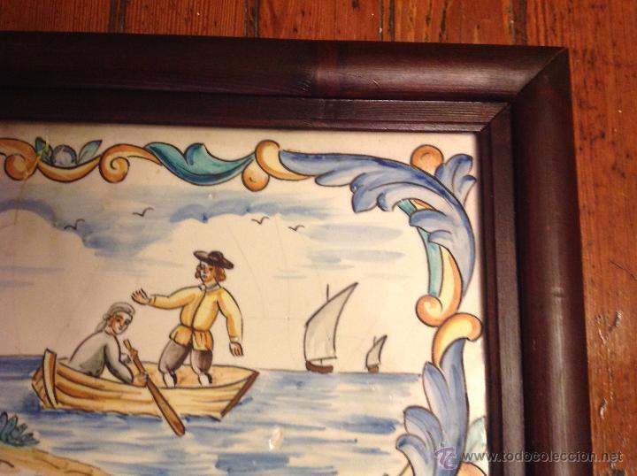 Antigüedades: gran azulejo de manises - Foto 5 - 49070415