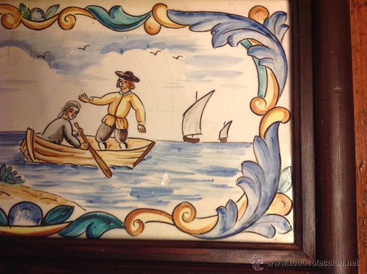 Antigüedades: gran azulejo de manises - Foto 6 - 49070415