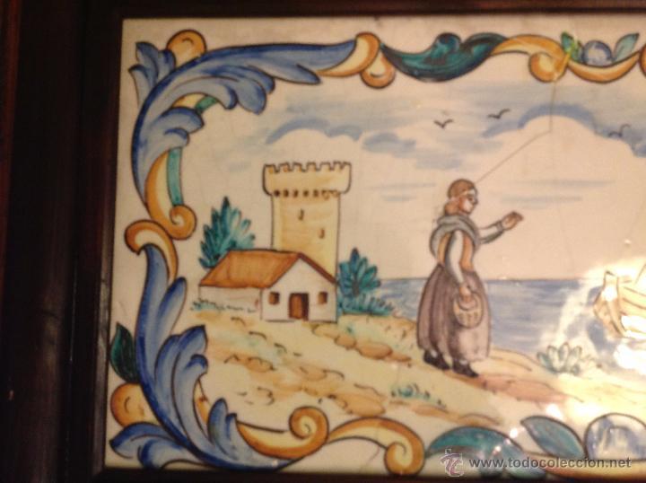 Antigüedades: gran azulejo de manises - Foto 7 - 49070415