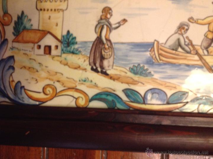 Antigüedades: gran azulejo de manises - Foto 8 - 49070415