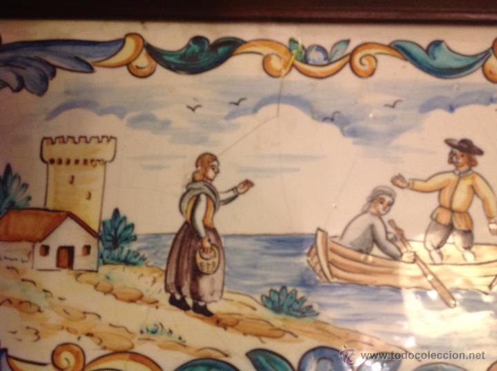 Antigüedades: gran azulejo de manises - Foto 9 - 49070415