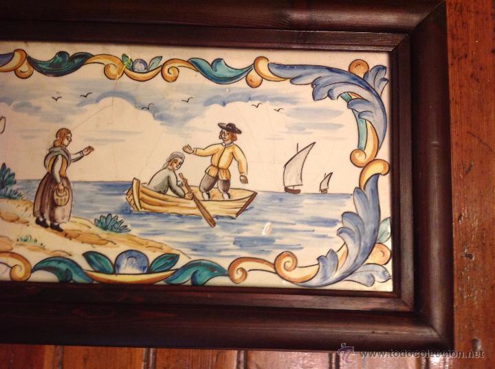 Antigüedades: gran azulejo de manises - Foto 10 - 49070415