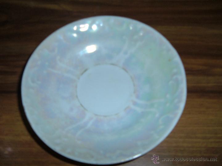 Antigüedades: 5 tazas antiguas nacaradas - Foto 6 - 49070512