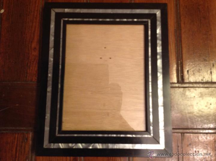Antigüedades: marco de fotos con nacar - Foto 2 - 49070807